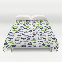 Blueberry Mint Duvet Cover Blueberry Duvet Cover Mint Duvet Cover Foodie Duvet Foodie Bedding Foodie Bedroom Decor Fruit Bedding Mojito