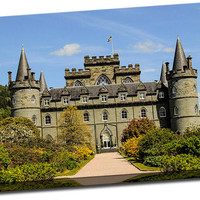Inveraray Castle Argyll and Bute Scotland on Mirror Wrapped Canvas