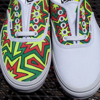Custom Hand Painted Vans - The Rasta Scheme