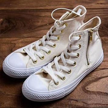 Trendsetter Converse All Star Heartpatch Women Fashion Casual High-Top Canvas Shoes
