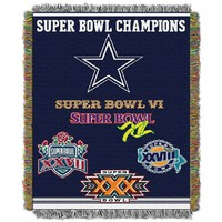 Dallas Cowboys Commemorative Throw Blanket by Northwest (Cow Team)