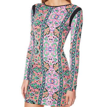FAIRGROUND LITTLE CEDAR ISLE BODYCON DRESS - MOROCCO PRINT