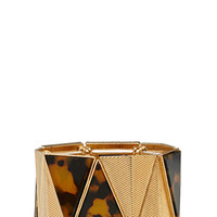 FOREVER 21 Angular Tiger Eye Bracelet Brown/Gold One