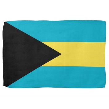 Kitchen towel with Flag of Bahamas