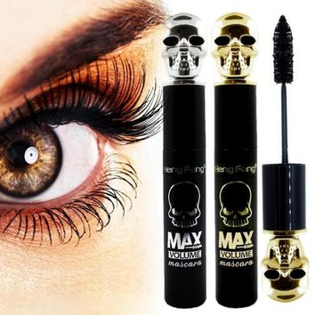 Skull 3D Fiber Lashes Mascara Long Eyelash Thick Curling Mascara Waterproof Eye Lashes Makeup Tools