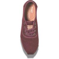 BURGUNDY WOOL WOMEN'S CORDONES