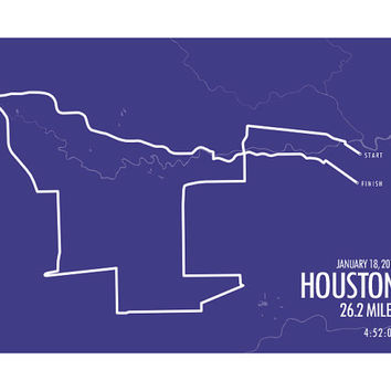 Houston Marathon Print 2015