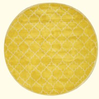 Yellow Transitional  Moroccan Rug
