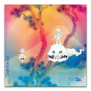 "TX029 Hot Kids See Ghosts Kanye West & Kid Cudi 2018 Album Cover 24x24"" A3 A4 Poster Art Silk Canvas Home Room Wall Print Decor"