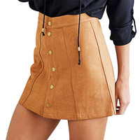 Sexy Faux Suede Skirt