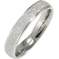 Stainless Steel Sparkle 3.8mm Band Ring - Women (Size 8)