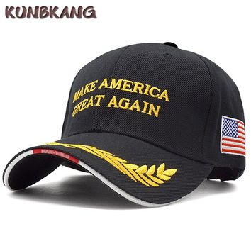 High Quality USA Flag Trump Baseball Cap Make America Great Again Snapback Hat Man Embroidery Letter Dad Bone Casquette Army Cap