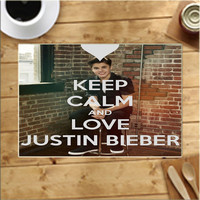 Keep Calm And Love Justin Bieber Placemats