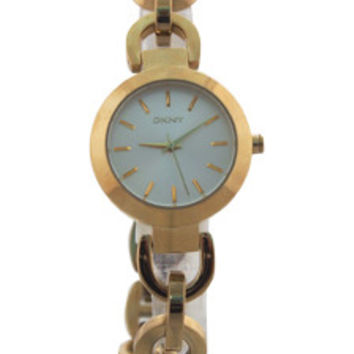 ny2134 sasha gold-tone stainless steel link bracelet watch by dkny -For -For Women