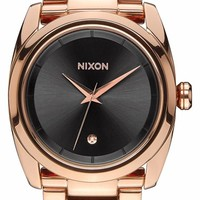 Women's Nixon 'Queenpin' Extra Large Bracelet Watch, 36mm - Rose Gold/ Gunmetal (Nordstrom Online Exclusive)