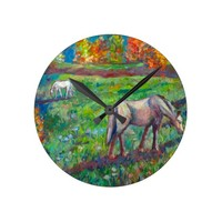 Blue Ridge Horse Pasture Round Clock