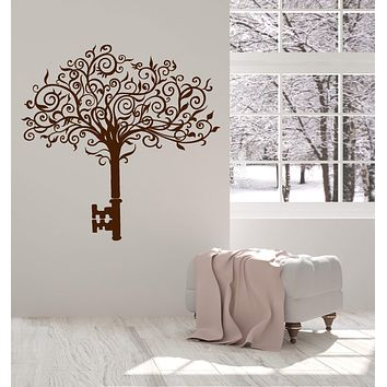Vinyl Wall Decal Abstract Tree Key Home Art Interior Ideas Stickers Unique Gift (ig4855)