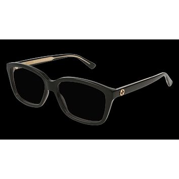 Gucci - GG0301O-001 Black Gold Eyeglasses / Demo Lenses
