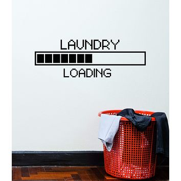 Vinyl Wall Decal Laundry Room Loading Pixel Art Decor Stickers Mural (ig5301)
