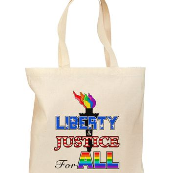 Gay Equality Liberty Justice for All Grocery Tote Bag
