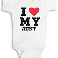 Lil Shirts I Love My Aunt Baby Bodysuit