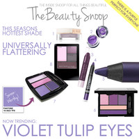 THE BEAUTY SNOOP: NOW TRENDING: VIOLET TULIP EYES WITH STUDIO5