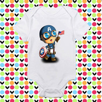 cute captain America baby shirt Onesuit, cute captain America  baby clothing, cute captain America baby Onesuit