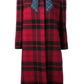 Love Moschino tartan print coat