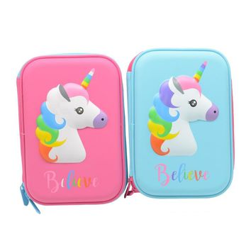 unicorn pencil case Kawai pencilcase Cartoon trousse scolaire stylo estuche escolar estojos de escola school supplies