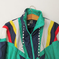 Vintage 1980's River Edge Windbreaker Jacket