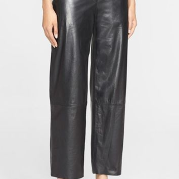 Women's Helmut Lang Crop Leather Pants,