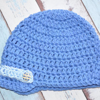 Brimmed Hat Blue