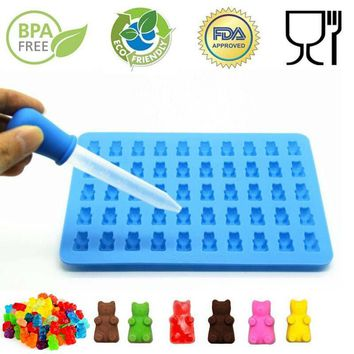 Silicone Gummy Bear Mold Sheet with 50 cavities for Candy, Ice, Jelly.  Kids will love