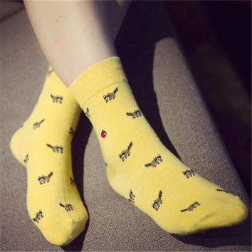 New women cartoon socks autumn and winter women socks animal motifs leisure socks