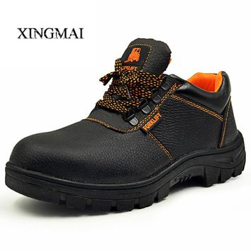 Plus Size 35-46 Men Ankle Boots Autumn New Lace Up Men Work Shoes High Quality Safety Shoes