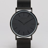 Reclaimed Vintage Classic Mesh Strap Watch In Black at asos.com