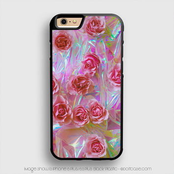 NOT holographic! Tumblr Flower iPhone 6 Plus Case iPhone 6S+ Cases
