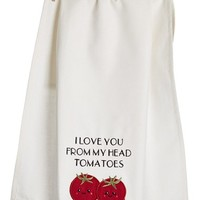 Levtex 'I Love You From My Head Tomatoes' Dish Towel - Beige