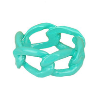 Mint Dipped Chain Link Ring