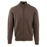 Linea Rosso Signature Mens Wool Blend Knit Full Zip Sweater