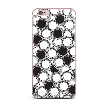 "Nandita Singh ""Beaded Bangles"" Black White iPhone Case"