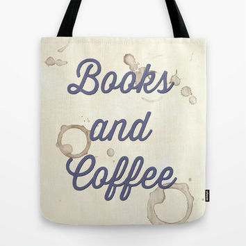 Books and Coffee Tote Bag by Arielle Levin