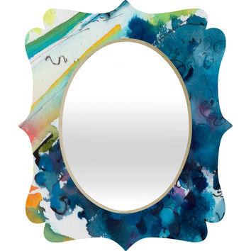 Ginette Fine Art Blueberries Quatrefoil Mirror