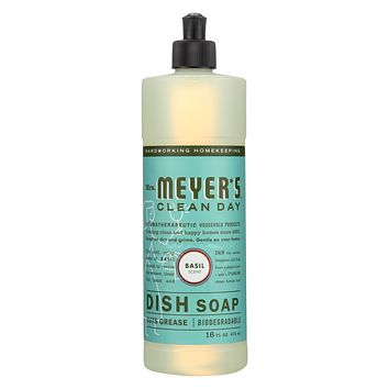 Mrs. Meyer's Clean Day - Liquid Dish Soap - Basil - Case Of 6 - 16 Oz