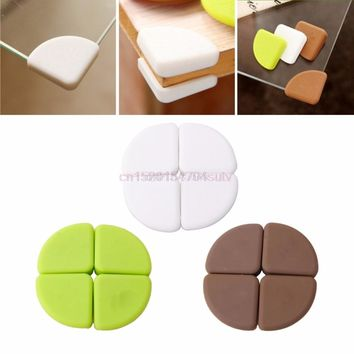 4Pcs Baby Kids Silicon Arc Corner Protector Table Desk Edge Safety Guards Bumper #H055#