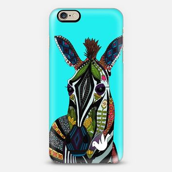 zebra love turquoise iPhone 6 case by Sharon Turner | Casetify