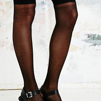 Sheer Over-the-Knee Socks in Black - Urban Outfitters