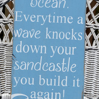 Ready To Ship Beach Decor, Tropical, Nautical, Coastal, Inspirational Wood Hand Painted Sign
