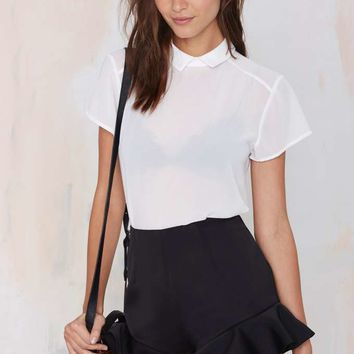 Nasty Gal Mod Bod Sheer Blouse