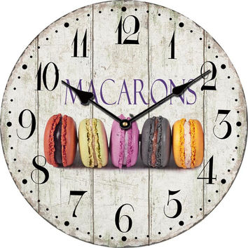 Vintage Wall Clock Modern Design Large Decorative Kitchen Wall Clock Wood Cafe Home Decor Clock On The Wall